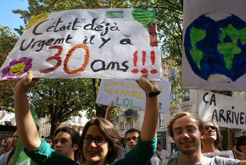 Marche pour le Climat Bordeaux JEBA (Jeunes Écologistes Bordeaux Aquitaine)