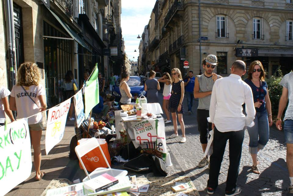 Parking Day JEBA (Jeunes Écologistes Bordeaux Aquitaine)