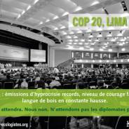 De Lima à Paris : un an pour en finir avec l'immobilisme climatique