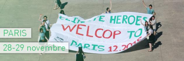 A la veille de la Cop 21, les Jeunes Écologistes portent la bataille pour le climat à Paris