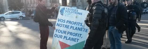 Répression au salon Solutions COP21 : un état d'urgence toujours politique